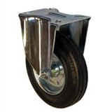 Black rubber castors